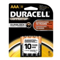 Piles Duracell Coppertop AAA 8