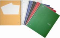Five Star® Wirebound Notebooks, 3 subject , 10-½ x 8, 300 Page