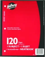 Neatbooks Hilroy, 1 sujet, 10-½ x 8, 120 Page Couleurs Assorties
