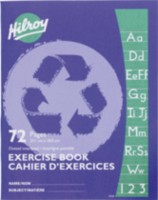 Hilroy Recycled Exercise Books, 72 pages, dotted Interline with margin, 9-1/8 x 7-1/8, 72 Page