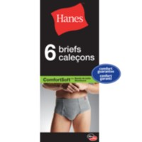 Hanes Men's 6-Pack Comfortsoft Briefs L