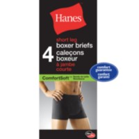 Hanes Men's ComfortSoft Short Leg Boxer Briefs, Pack of 4 M