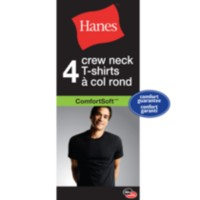 4-pack Crew neck T-shirts Hanes L