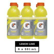 Gatorade Lemon-Lime Sports Drink, 591 mL Bottles, 6 Pack