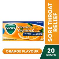 Vitamine C, pastilles à l'orange - 20 pastilles - Vicks