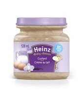 Heinz Strained Custard Jarred Baby Food