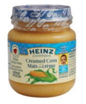 Heinz Strained Creamed Corn Puree