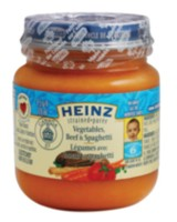 Heinz Strained Vegetable Beef Spaghetti