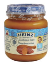 Heinz Stage 2 Strained Sweet Potato and Turkey Baby Food