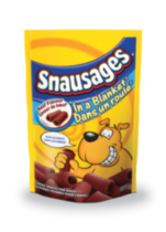 Snausages in a Blanket Beef Flavour Chewy Snacks for Dogs