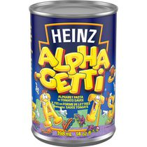 Heinz Alpha-getti Alphabet Pasta with Tomato Sauce
