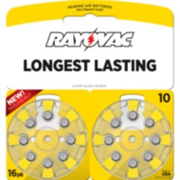 Rayovac Size 10 Hearing Aid Batteries - 16 pack