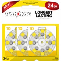 Rayovac Size 10 Hearing Aid Batteries - 24 pack