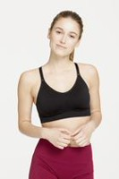 Athletic Works Women's Seamless Meshback Cami Bra Black M