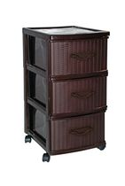Gracious Living 3-Drawer Wicker Storage Tower