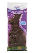 Great Value Solid Milk Chocolate Solid Choclate Bunny