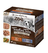 Zoe Tempting Trios Wet Variety Pack Food for Dogs