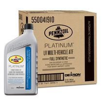 Pennzoil Platinum™ LV Multi-Vehicle Full Synthetic Automatic Transmission Fluid