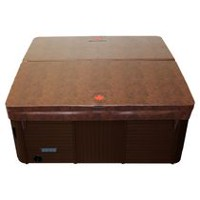 Canadian Spa Co. Square Hot Tub Cover with 5 in/3 in Taper - Brown 92in x 92in