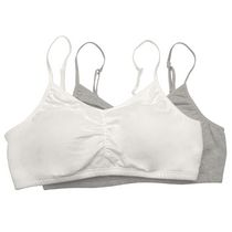 Fruit of the Loom Girls Rouched Bralette-2 Pack 32