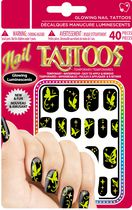 Sticko Glowing Nail Butterfly Tattoos