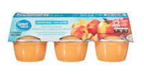 Great Value Apple Peach Snack Unsweetened Cups