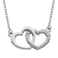 PAJ Sterling Silver Interlocking Hearts Necklace