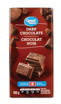 Chocolat noir de Great Value