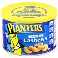 Planters Unsalted Cashews