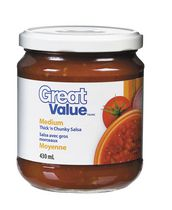 Great Value Thick'n Chunky Medium Salsa