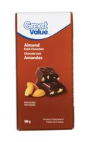 Chocolat noir aux amandes de Great Value