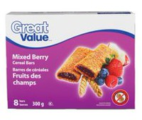 Great Value Mixed Berry Cereal Bars