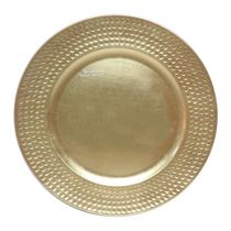 Holiday Time 13'' Gold Hammered Rim Charger