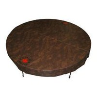 Canadian Spa Co. Round Spa Cover with 5 in/3 in Taper - Brown 80in di.