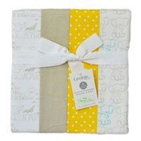 George baby Organic Cotton Flannel Receiving Blankets