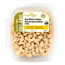 Organically Yours Gluten Free Raw Whole Cashews