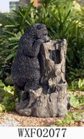 hometrends Bear Tree Stump Patio Fountain