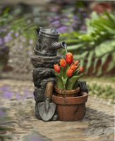 hometrends Tulip Pot Patio Fountain