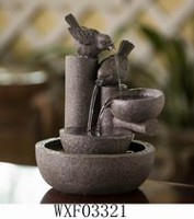 hometrends Tabletop Indoor/Outdoor Fountain With Birds