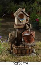 hometrends Birdhouse Patio Fountain