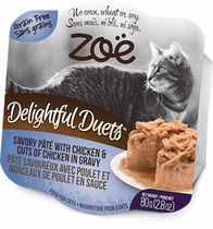 Zoe Delightful Duets Chicken Pâté Wet Food for Cats