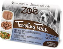 Zoe Tempting Trios Chicken Pâté Wet Food for Dogs