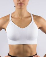 Athletic Works Women's Seamless Camibra with Keyhole in the Back White L