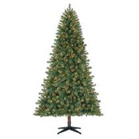 Holiday Time 7' Duncan Quick Set Fir with Clear Lights Christmas Tree