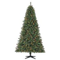 Holiday Time 7' Duncan Quick Set Fir with Multicolour Lights Christmas Tree
