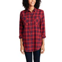 George Women's Plaid Shirt Red XXL