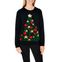 George Women's Light Up X-Mas Sweater XL