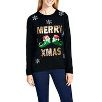 George Women's Sequins X-Mas Sweater L
