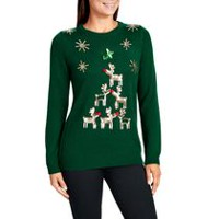George Women's Sequins X-Mas Sweater XL