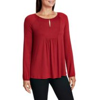George Women's Knit Peasant Top Red S